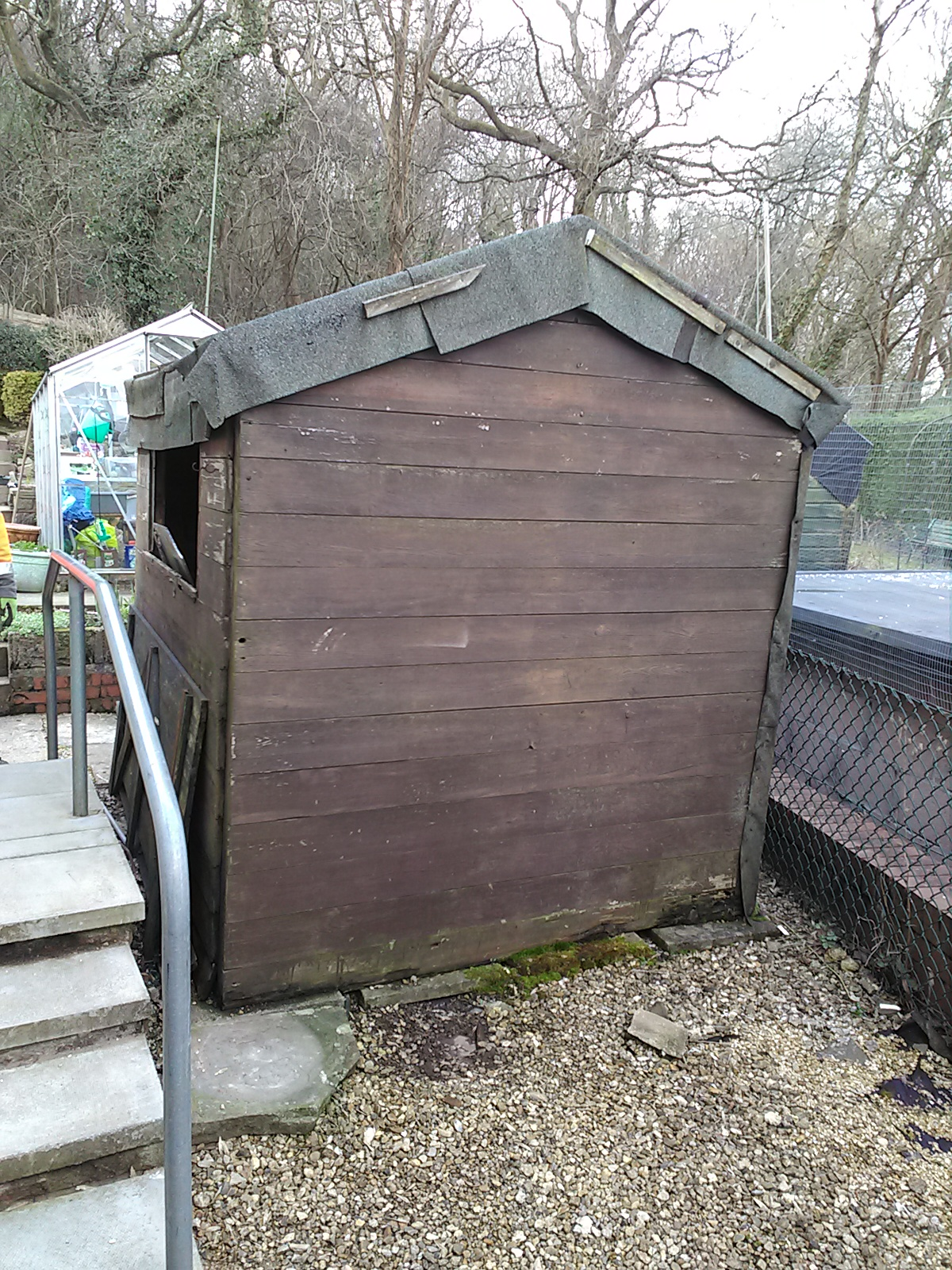 shed removal before